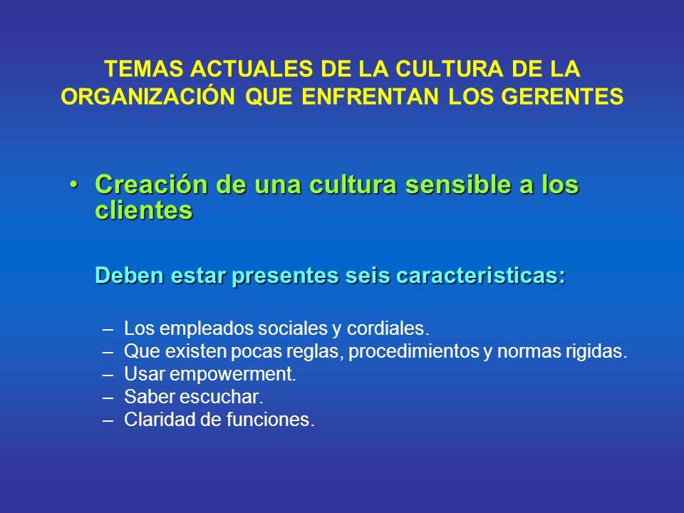 Creación de una cultura sensible a los clientes