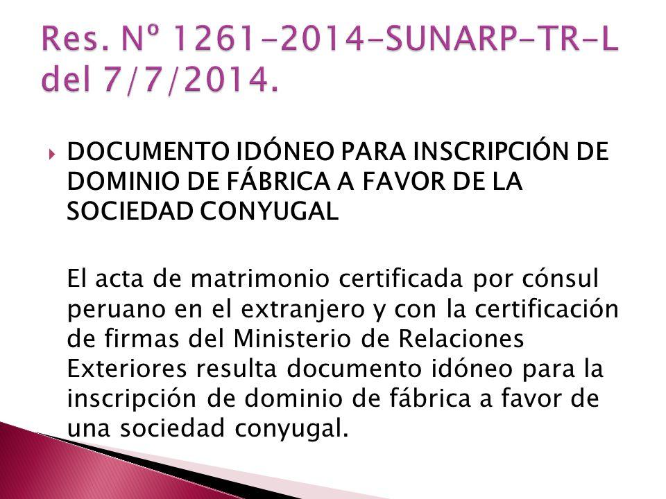 Res. Nº 1261-2014-SUNARP-TR-L del 7/7/2014.