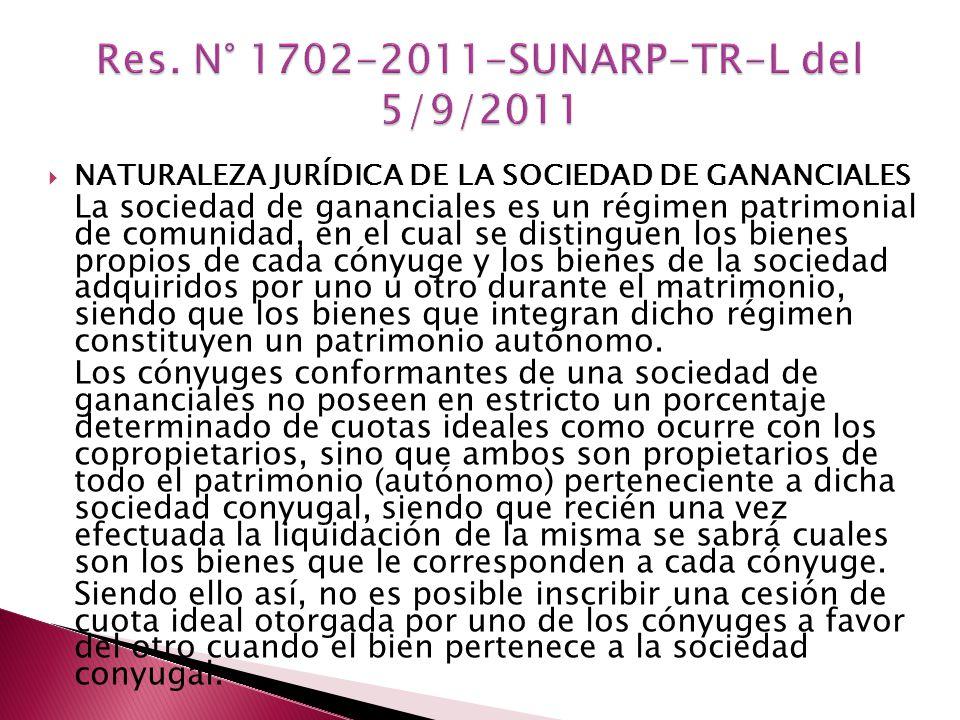 Res. N° 1702-2011-SUNARP-TR-L del 5/9/2011