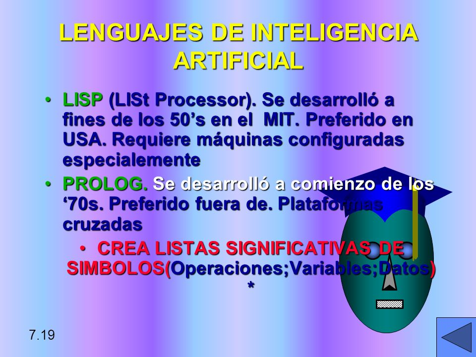 LENGUAJES DE INTELIGENCIA ARTIFICIAL