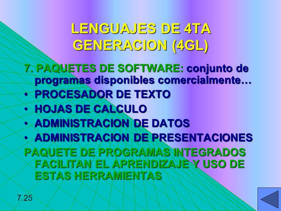 LENGUAJES DE 4TA GENERACION (4GL)
