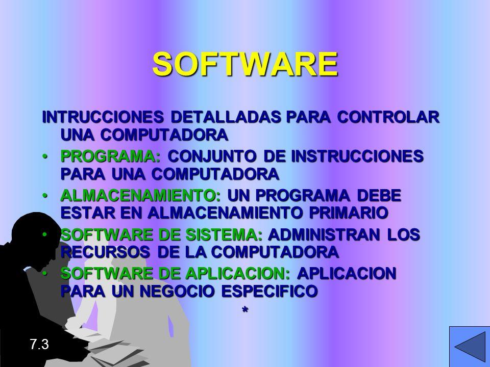 SOFTWARE INTRUCCIONES DETALLADAS PARA CONTROLAR UNA COMPUTADORA