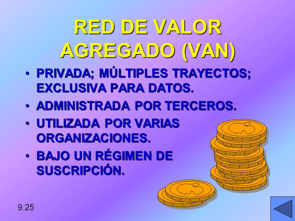 RED DE VALOR AGREGADO (VAN)