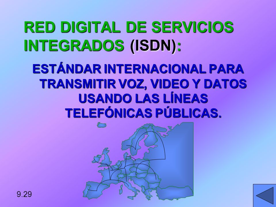RED DIGITAL DE SERVICIOS INTEGRADOS (ISDN):
