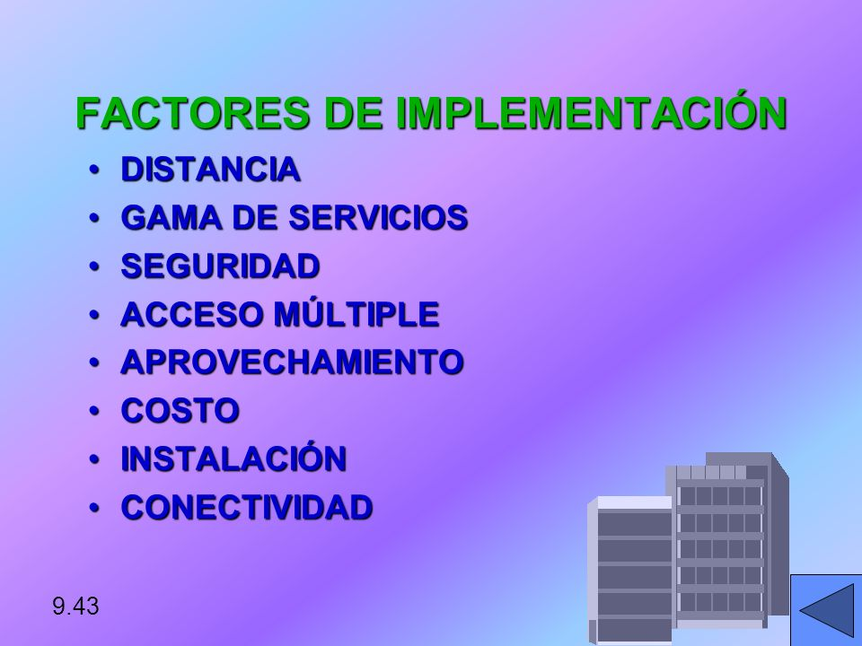 FACTORES DE IMPLEMENTACIÓN