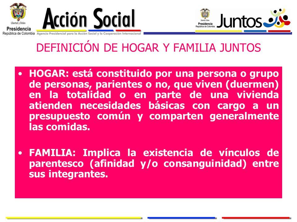 DEFINICIÓN DE HOGAR Y FAMILIA JUNTOS