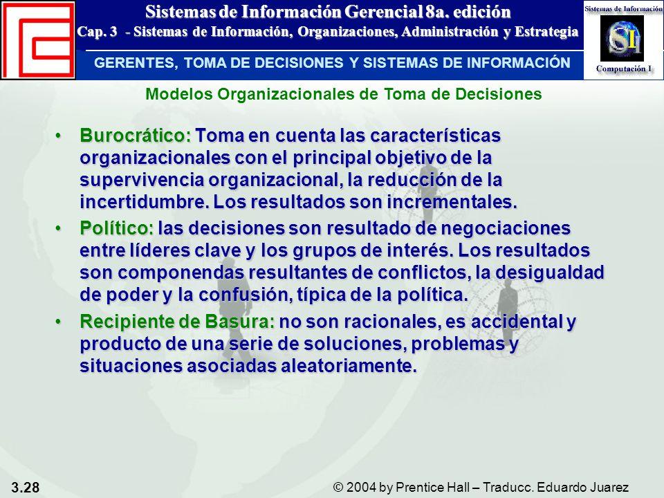 Modelos Organizacionales de Toma de Decisiones