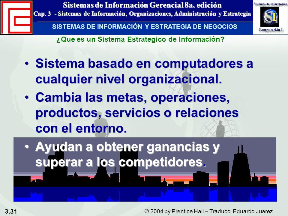 Sistema basado en computadores a cualquier nivel organizacional.