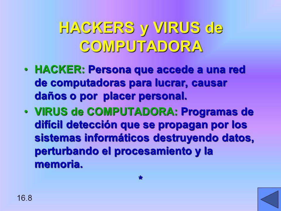 HACKERS y VIRUS de COMPUTADORA