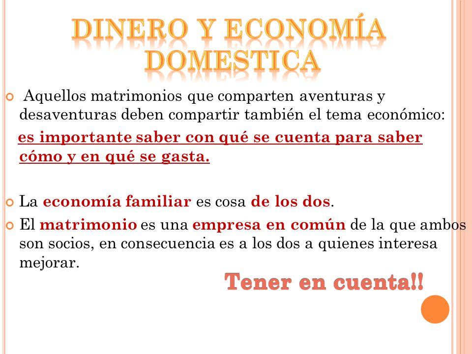 Dinero y economía domestica