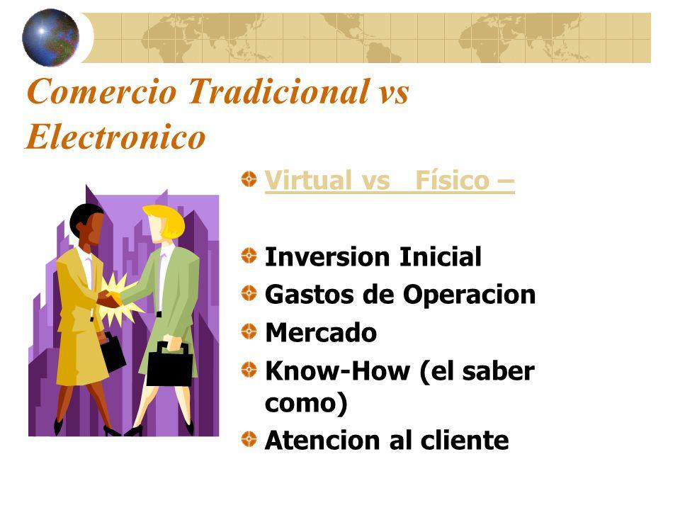 Comercio Tradicional vs Electronico