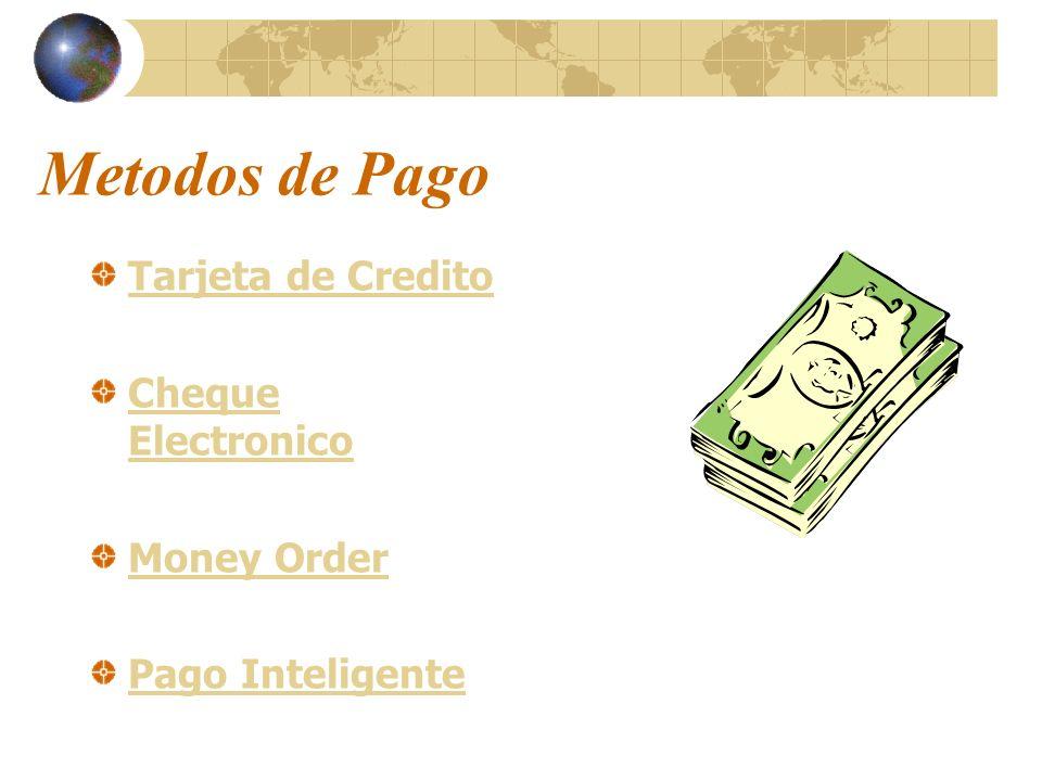 Metodos de Pago Tarjeta de Credito Cheque Electronico Money Order