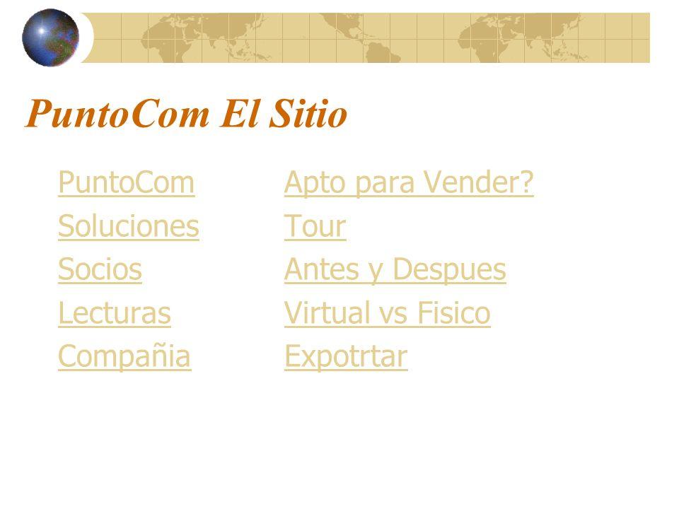 PuntoCom El Sitio PuntoCom Soluciones Socios Lecturas Compañia