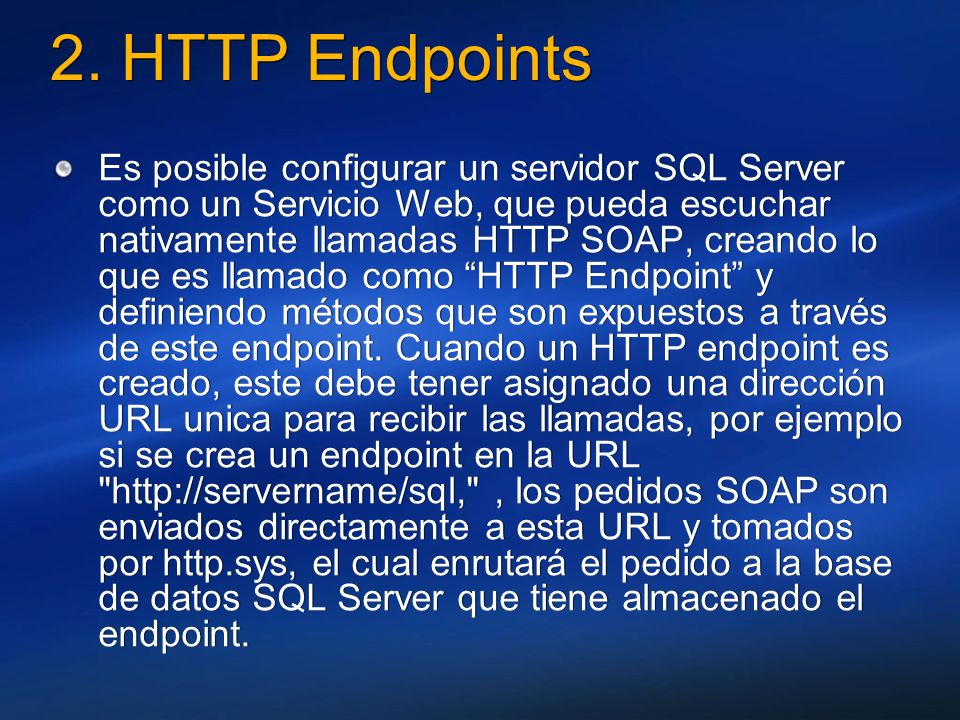 2. HTTP Endpoints