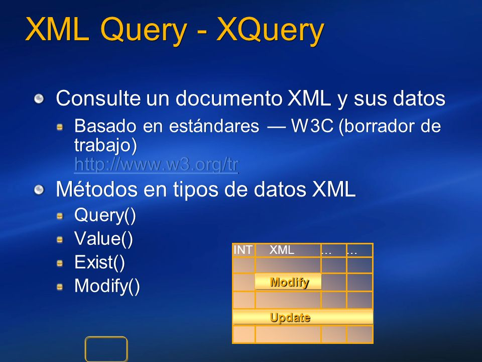 XML Query - XQuery Consulte un documento XML y sus datos