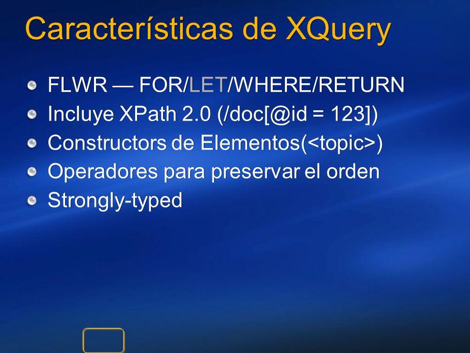 Características de XQuery