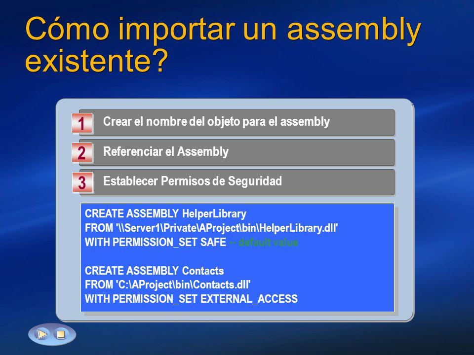 Cómo importar un assembly existente
