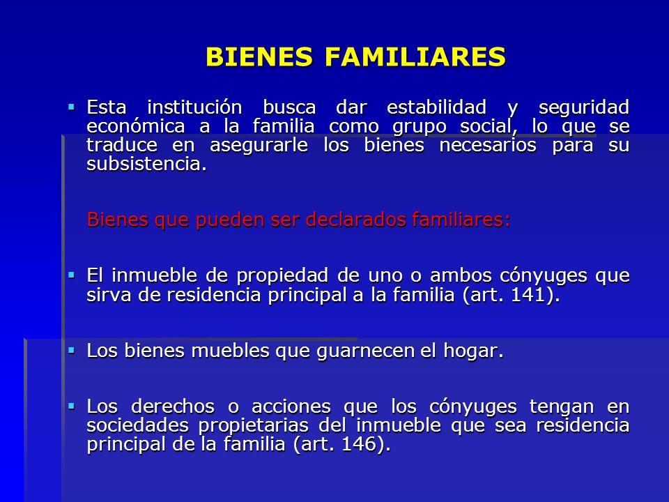BIENES FAMILIARES