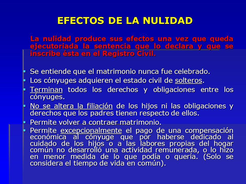 EFECTOS DE LA NULIDAD