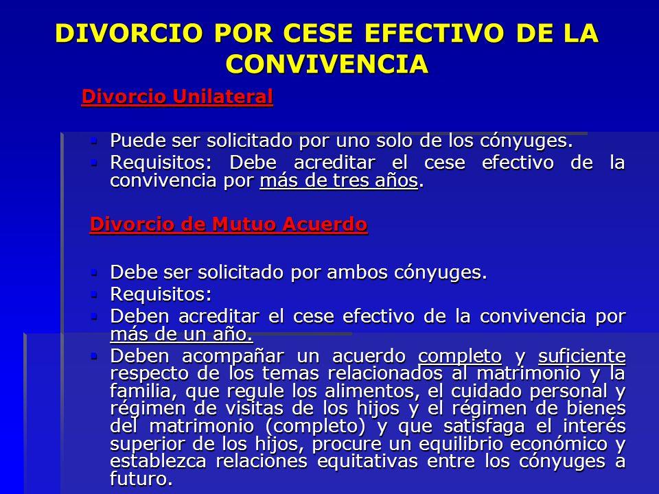 DIVORCIO POR CESE EFECTIVO DE LA CONVIVENCIA