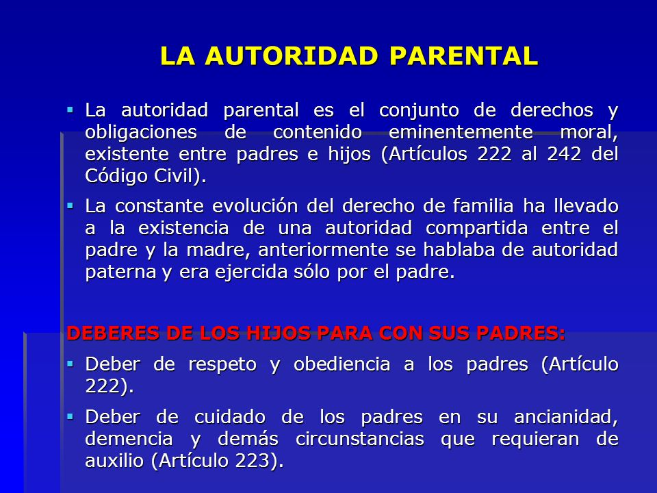 LA AUTORIDAD PARENTAL