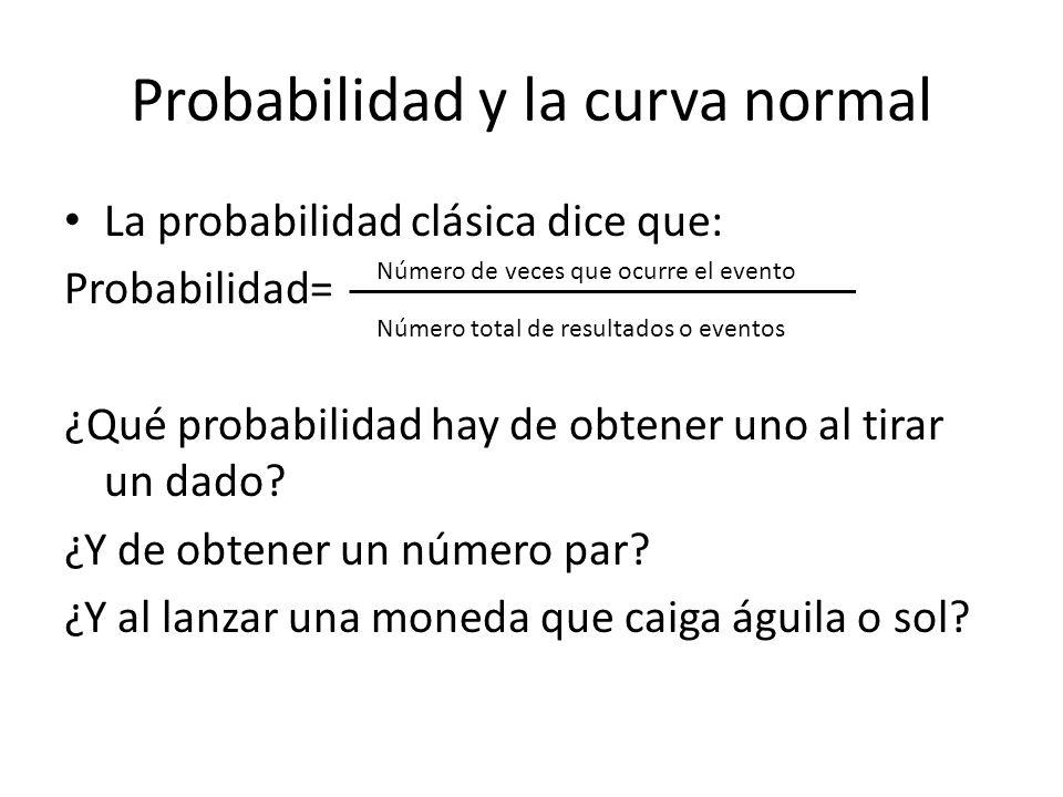 Probabilidad y la curva normal