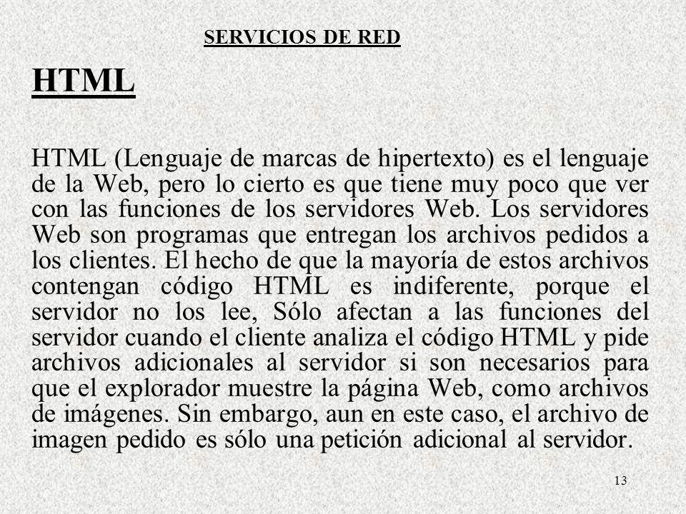 SERVICIOS DE REDHTML.