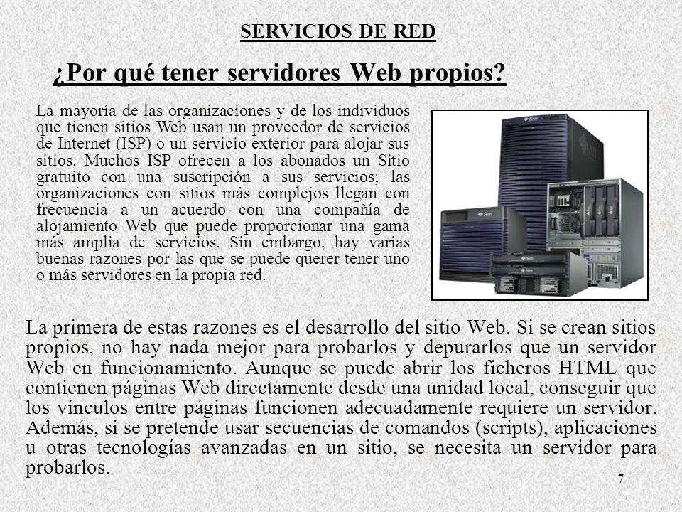 ¿Por qué tener servidores Web propios