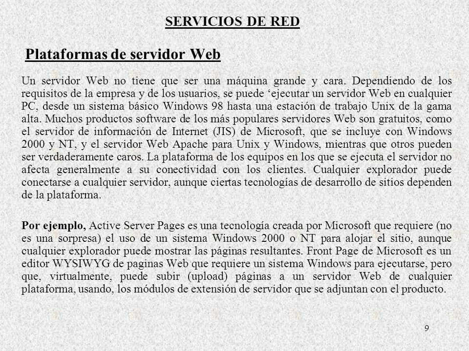 Plataformas de servidor Web