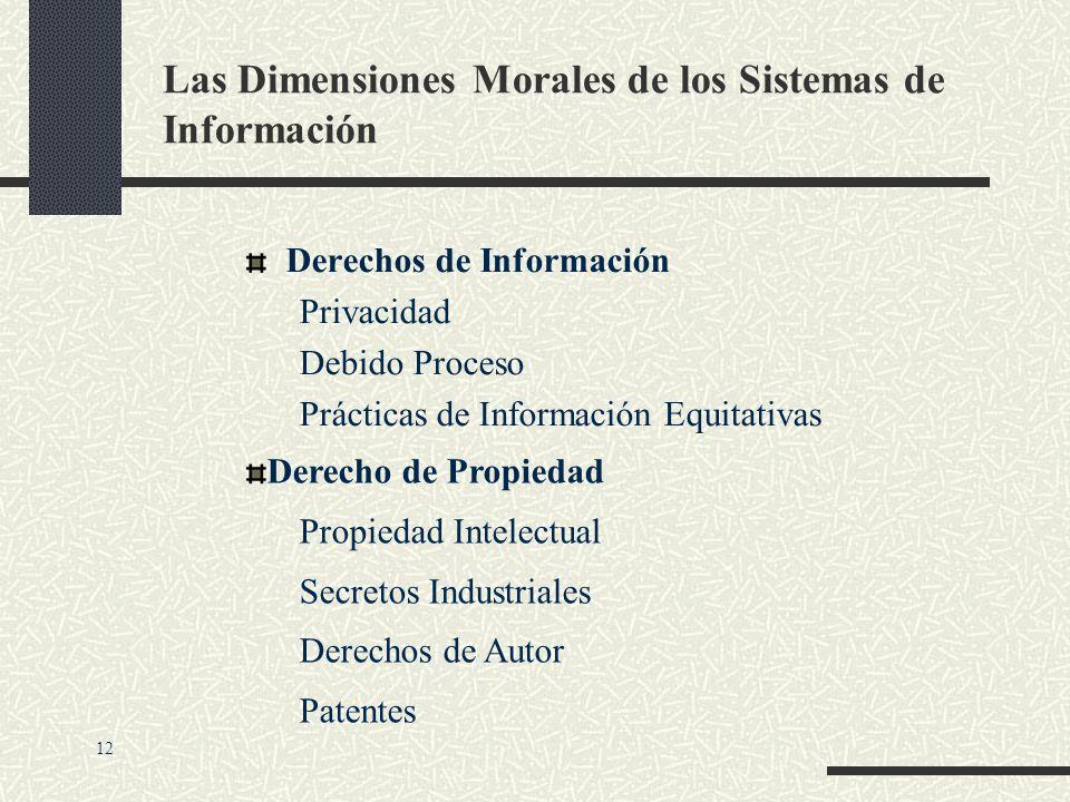 Las Dimensiones Morales de los Sistemas de Información