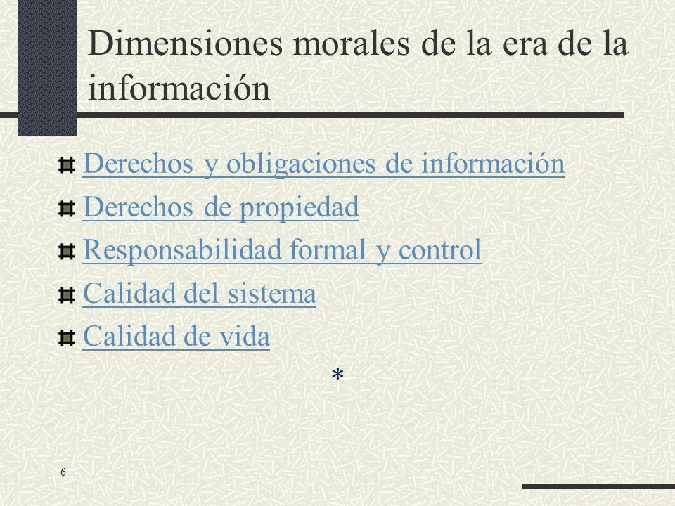 Dimensiones morales de la era de la información