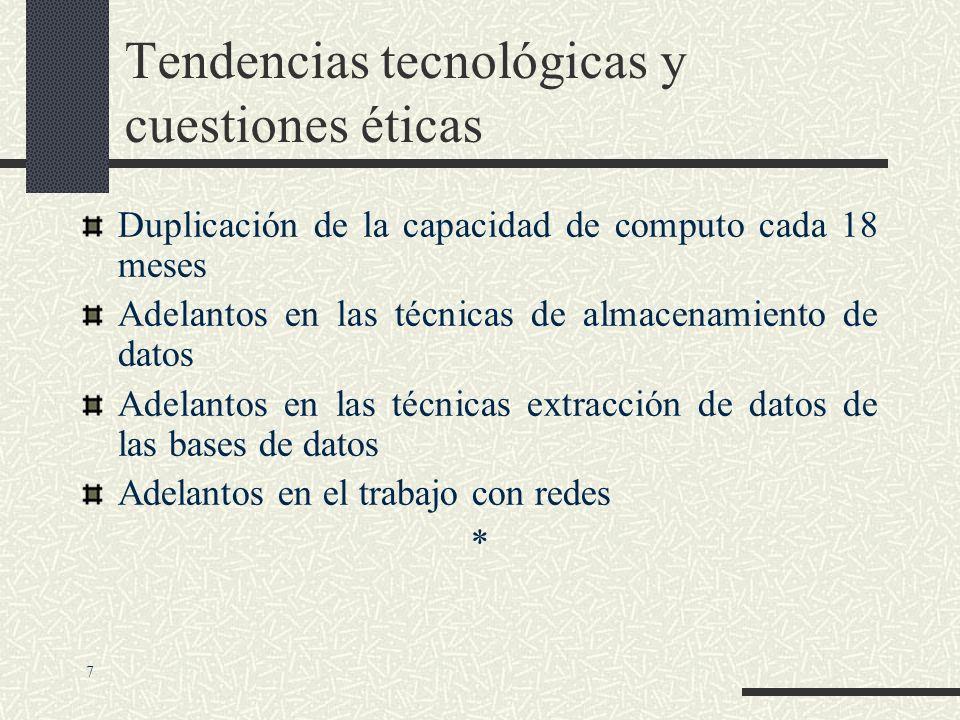 Tendencias tecnológicas y cuestiones éticas