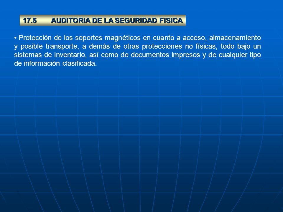 17.5 AUDITORIA DE LA SEGURIDAD FISICA