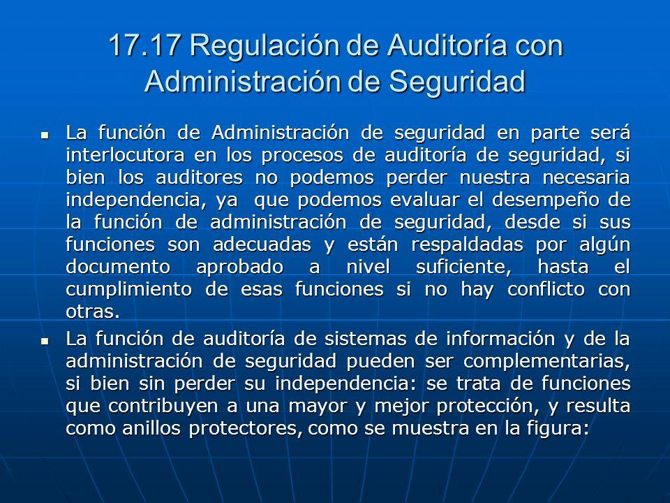 17.17 Regulación de Auditoría con Administración de Seguridad