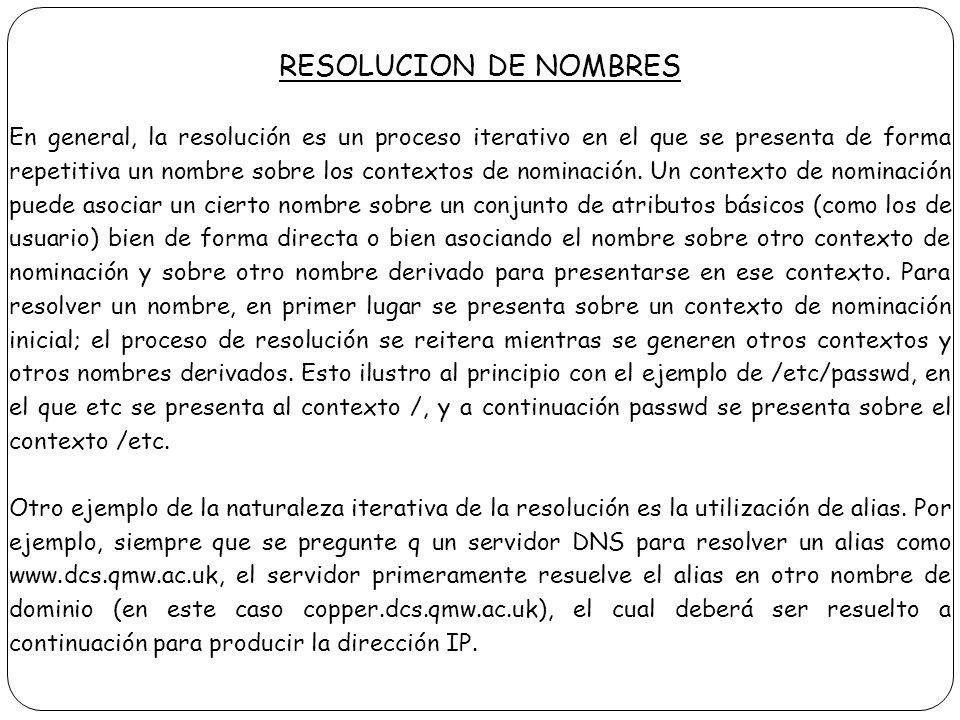 RESOLUCION DE NOMBRES