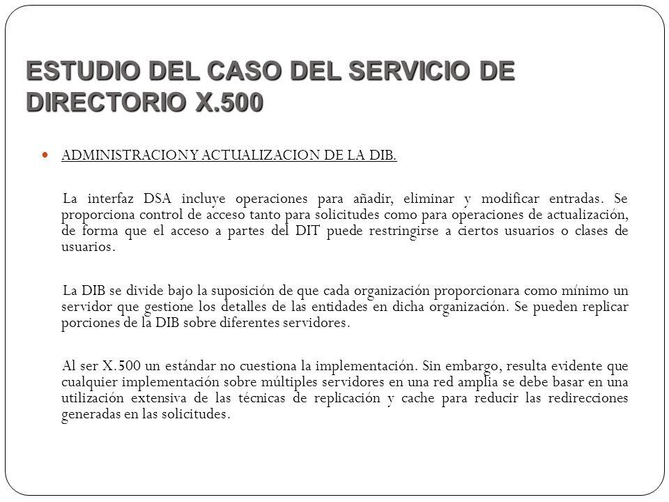 ESTUDIO DEL CASO DEL SERVICIO DE DIRECTORIO X.500
