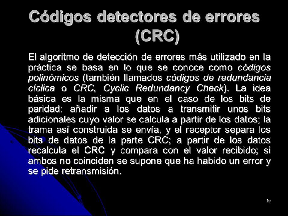 Códigos detectores de errores (CRC)