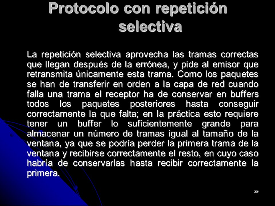 Protocolo con repetición selectiva