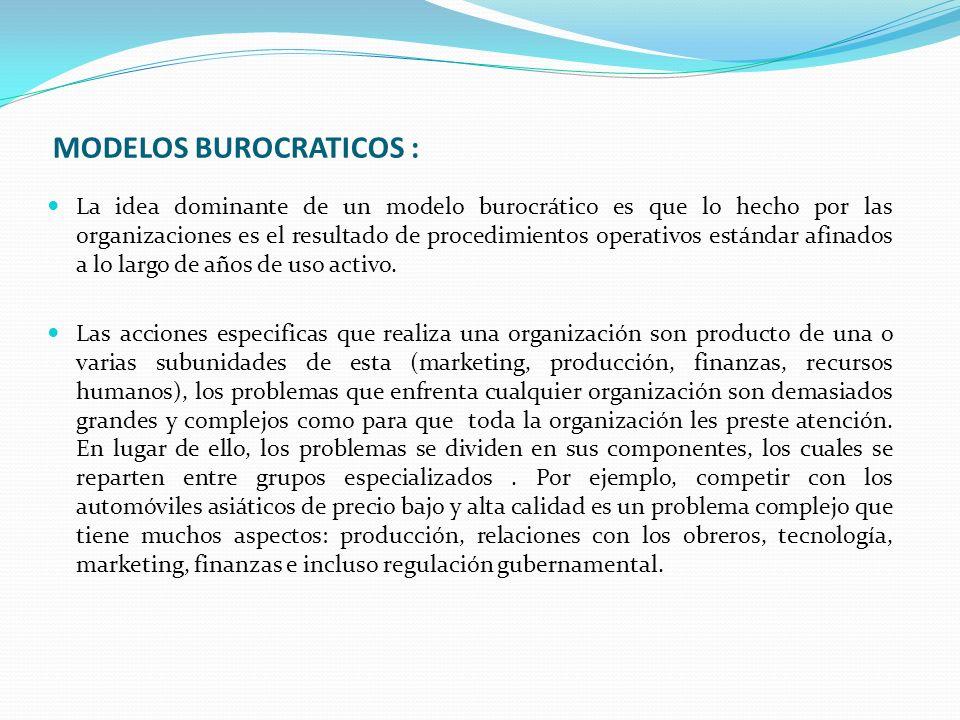 MODELOS BUROCRATICOS :