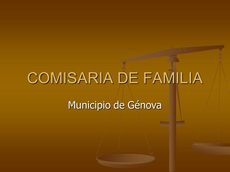 COMISARIA DE FAMILIA Municipio de Génova