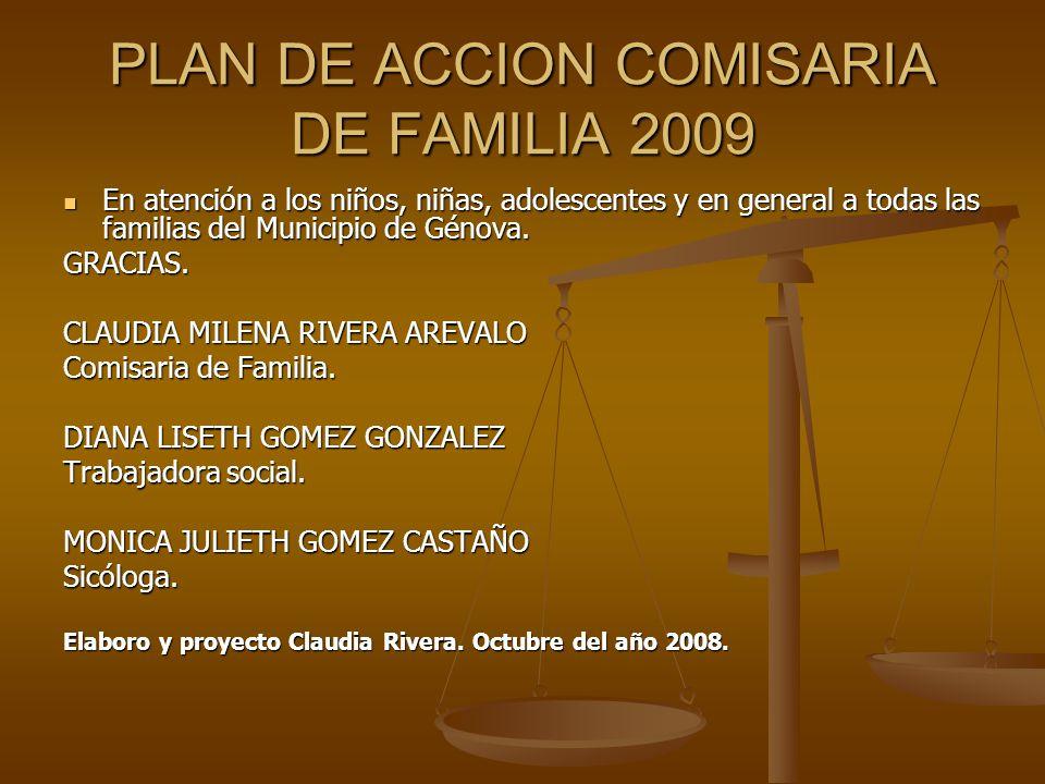 PLAN DE ACCION COMISARIA DE FAMILIA 2009