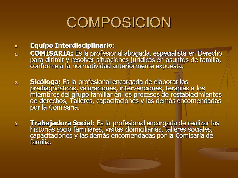 COMPOSICION Equipo Interdisciplinario: