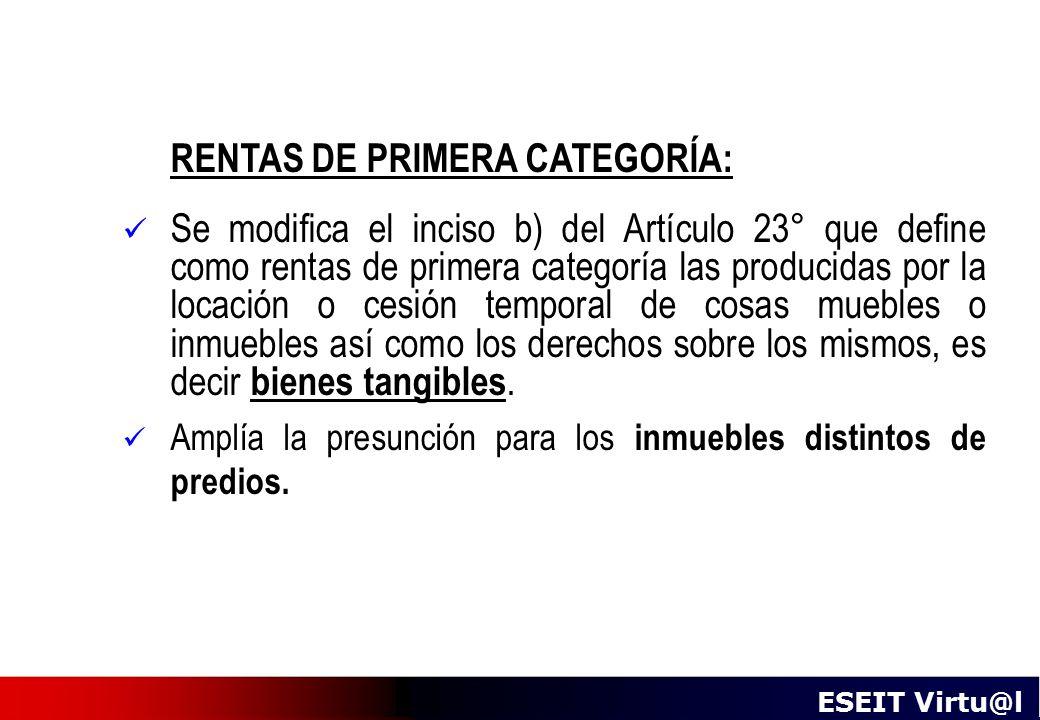 RENTAS DE PRIMERA CATEGORÍA: