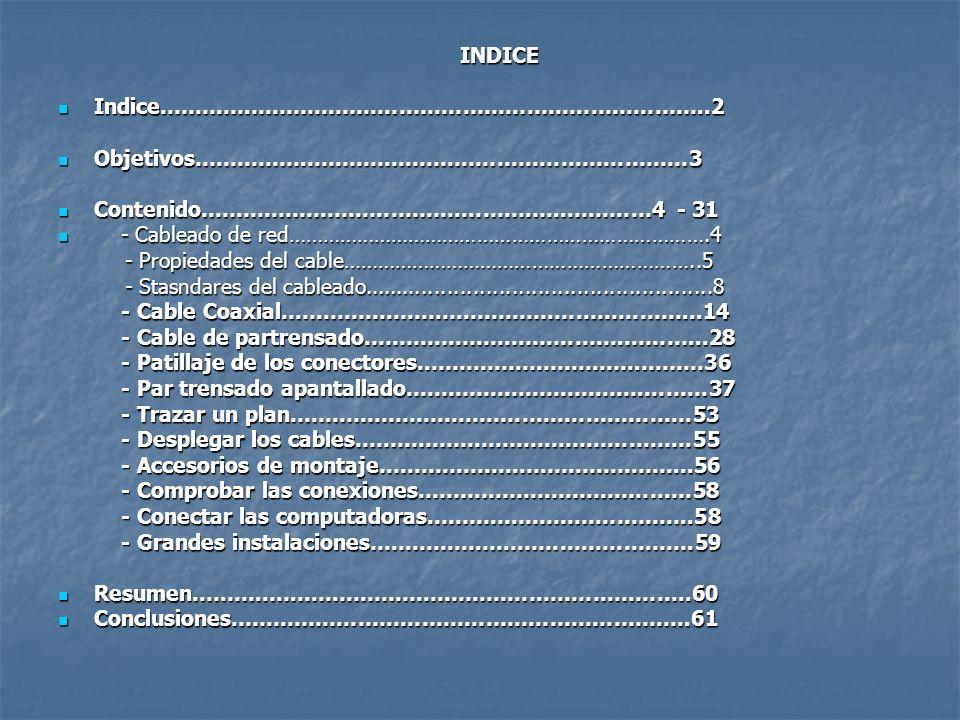 INDICE Indice………….………………………………………………………..2. Objetivos…………….………………………………………………3. Contenido……………………………….……….…..…………4 - 31.