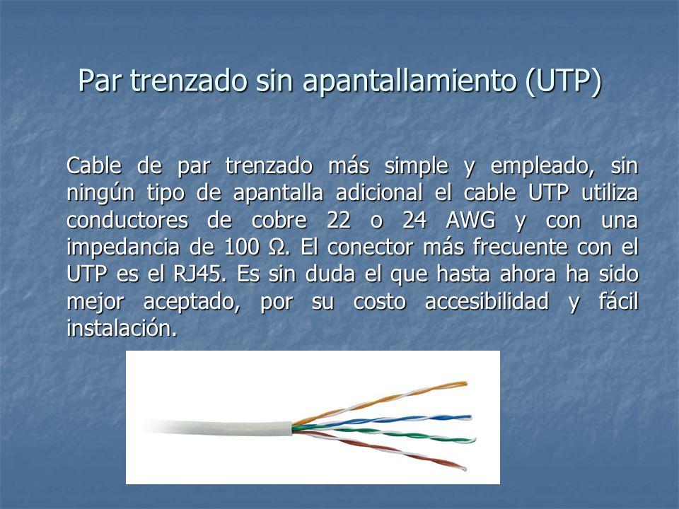 Par trenzado sin apantallamiento (UTP)