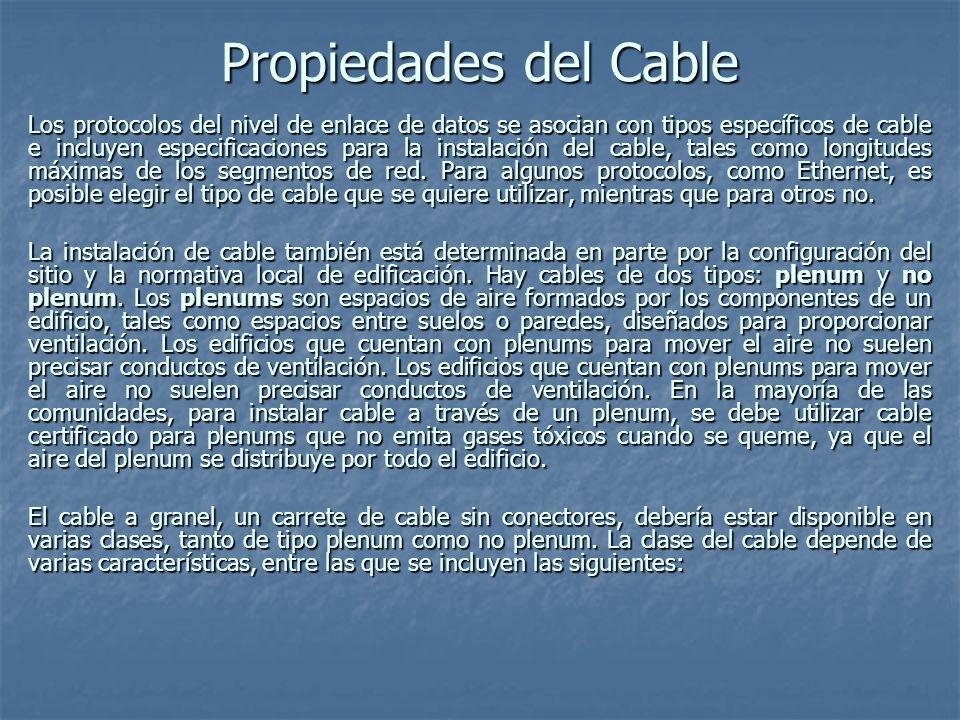 Propiedades del Cable