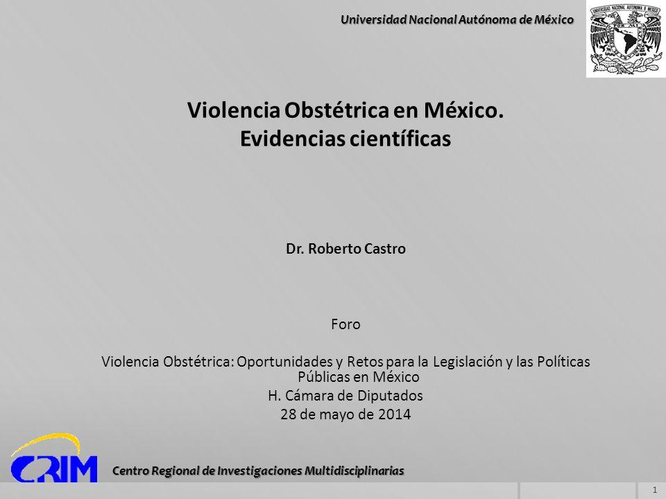 Violencia Obstétrica en México. Evidencias científicas