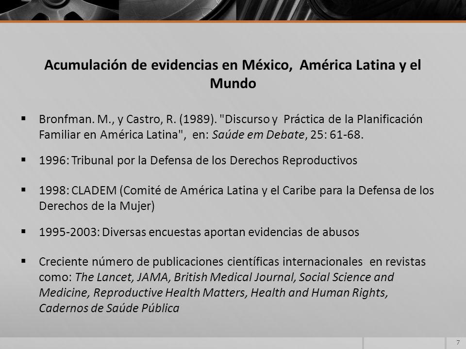 Acumulación de evidencias en México, América Latina y el Mundo