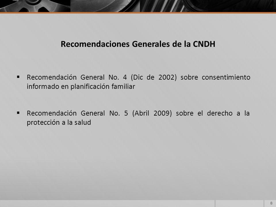Recomendaciones Generales de la CNDH