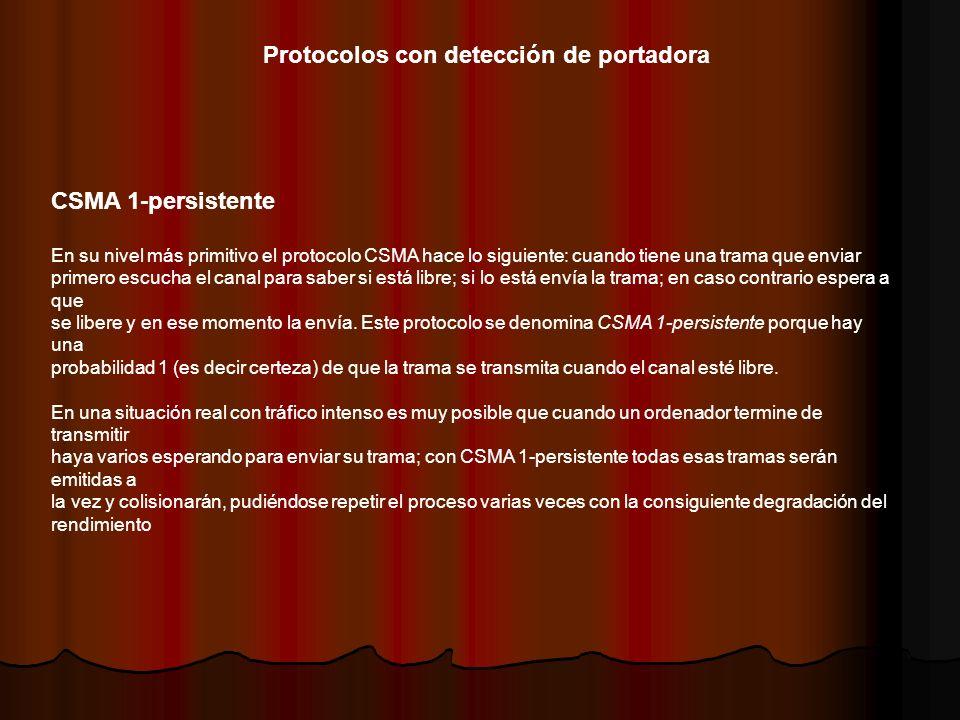 Protocolos con detección de portadora